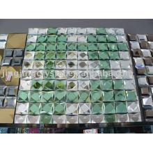 Telha de mosaico de espelho de cristal de luxo para decoração de parede de fundo de TV
