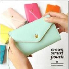 Portefeuille de téléphone intelligent PU couleur bonbon couleur