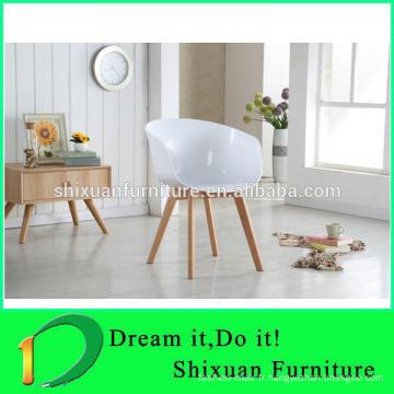 chaises en bois PP siège coloré chaise de bureau