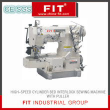 High Speed Cylinder Bed Interlock Sewing Machine with Puller (600-Tl)