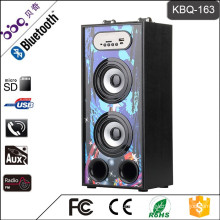 BBQ KBQ-163 10W 1200mAh Professional Factory Supply Wooden Loud Sound Dancing Speaker