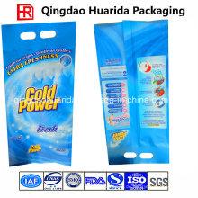 Zurück versiegelte Waschpulver-Plastikverpackungs-Tasche mit kundenspezifischem Logo