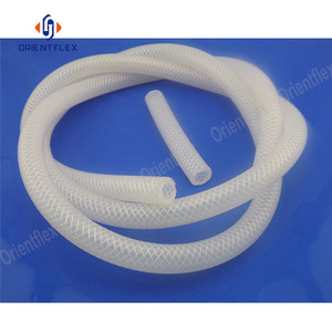 Diekstrusi FDA Food Grade Braid Silicone Rubber Hose