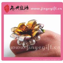 Anillo de perla de la vendimia de la flor de cerámica grande de China al por mayor