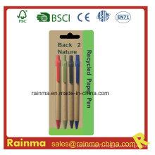 Дешевая бумажная шариковая ручка для школьных канцелярских принадлежностей
