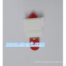 St Simplex Snap-in Fiber Keystone Вставка Оптический волоконный адаптер