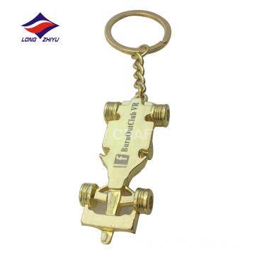 Popular gold silver copper plating exquisite car shaped keychain