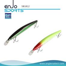 Angler Select Shallow Diving Hard Plastic Minnow Stick Bait Eau salée Appel de pêche pêcheur d'eau douce (SB1812)