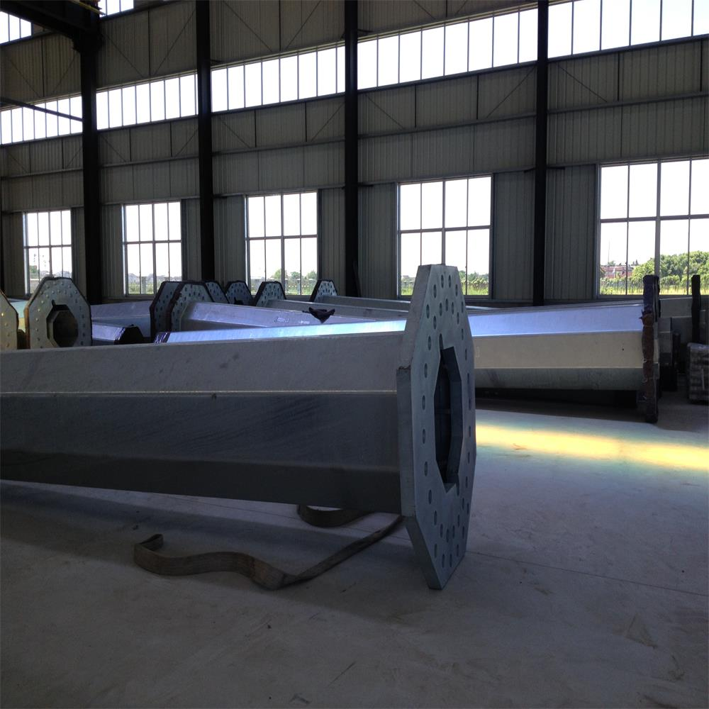 Galvanized steel tubular pole