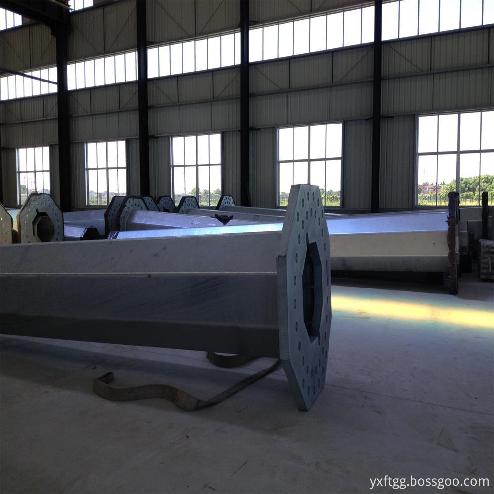 Galvanized steel pole