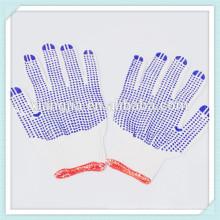 2014 Chine usine 60g coton gants de sécurité de travail avec pvc pointillé