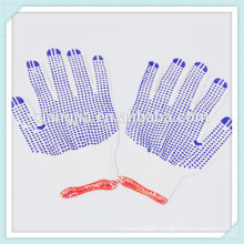 2014 China factory 60g cotton working safety gloves with pvc dotted