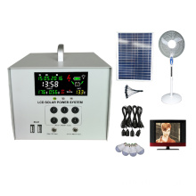 40W solar lighting system load tv fan