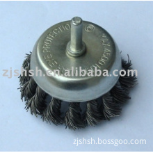 shank-mounted cup brush -twisted wire