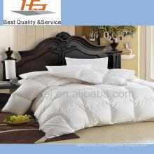 colcha branca do conjunto de cama do hotel do algodão 100% luxuoso