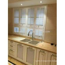 Obturateur de fenêtre en bois de haute qualité réglable au sol et respectueux de l'environnement