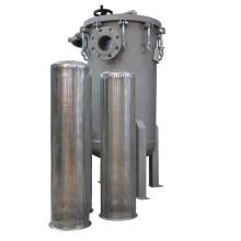 Alojamento de filtro de aço inoxidável do multi saco com conexão da flange do ANSI