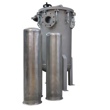 Boîtier de filtre à manches multiples en acier inoxydable avec raccord à bride ANSI