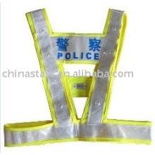 EN471 Erwärmung führte reflektierende Sicherheitsweste mit PVC-Klebeband