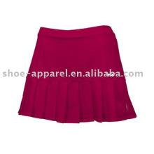 Faldas de tenis rojas rosadas de alto rendimiento oeko-tex 100 & 200