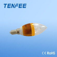 Aluminium E14 led candle lamp high quality