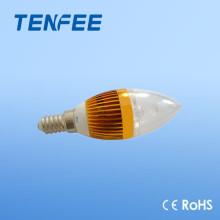 E14 alumínio levado vela lâmpada de alta qualidade