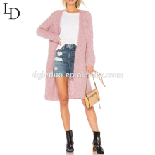 Vente chaude automne mode casual longue femme cardigan long pull