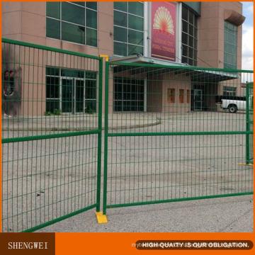 Зеленый Канадский Временный Забор Безопасности