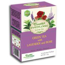 Smoothie de chá verde de chá de pirâmide de chá verde com sabores de lavanda Orgânico & compatível com a UE (FTB1510)