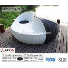 resin wicker outdoor furniture-rattan round bed