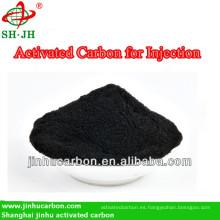 Carbón activado en polvo para inyección medicinal