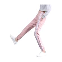 Stilvolle Seitenstreifen-Baumwoll-Sporthose für Damen