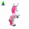 Colorful Customized Glass Unicorn Ornaments