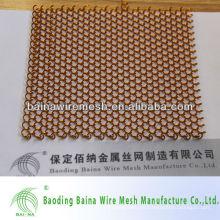 2015 alibaba china fabricación decorativos metal cortina habitación divider sala cortina