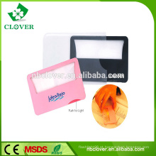 Leitura de livros de material plástico leitor portátil de tamanho de cartão de crédito