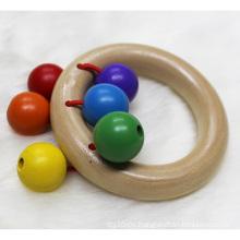 Umweltfreundlicher ungiftiger hölzerner Baby-Zahnen-Ring