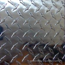 5 barras, 2 barras, diamante, patrón de grano Hoja de aluminio para la decoración y la construcción