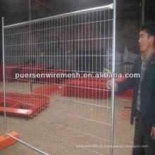 Construção temporária de barreira de construção de metal