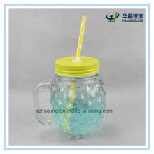 16oz 500ml Pineapple Shaped Drinking Glass Mason Jar