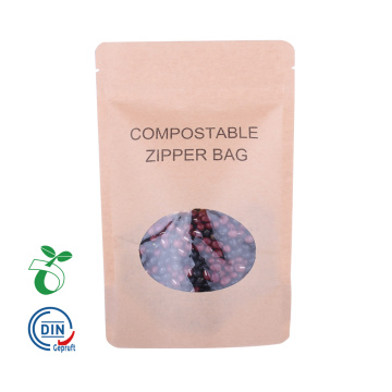 Bolsa de papel Kraft biodegradable compostable ecológica