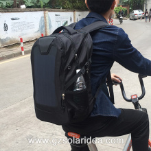 Chargeable High Efficiency Black Solar Panel Backpack