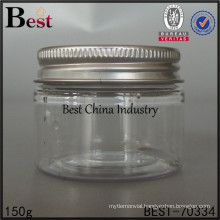 clear plastic jar for kitchen/cosmetic, 150g plastic jar, Cheap Plastic bottle in China