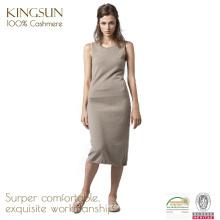 100 Cashmere Tricotado Mulheres Vestidos Longos, casual Vestidos de verão para mulheres