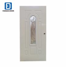 puertas de vidrio corredizas de acero inoxidable con inserción de vidrio decorativo