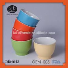 Material de grés sorvete xícaras de café sem alça, copos com design de cor, espresso xícara, sorvete