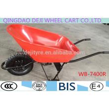 building/garden wheelbarrow galvanized tray PU wheel WB-7400R