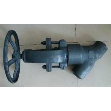 Thread end  Y-type globe valve