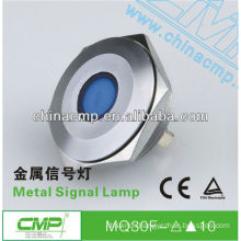 30mm CMP anti-vandal stainless steel IP67 waterproof 24 volt led indicator lights(passed SGS,CE,TUV,RoHS)