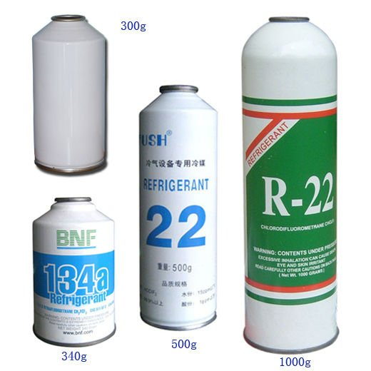 China 1kg Packing R22 Refrigerant Small Can R22 Gas 300g