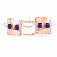 Fournisseur de gros pour Lapis Gemstone Lovely Charm Bangle For Women